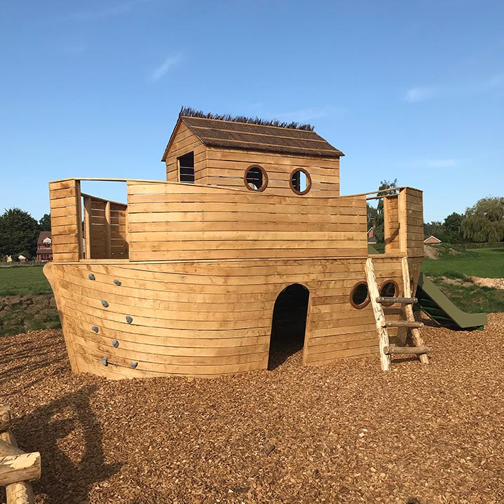 Gorsley Orchard Coffee House Play Area Ark Built Out Of Wood